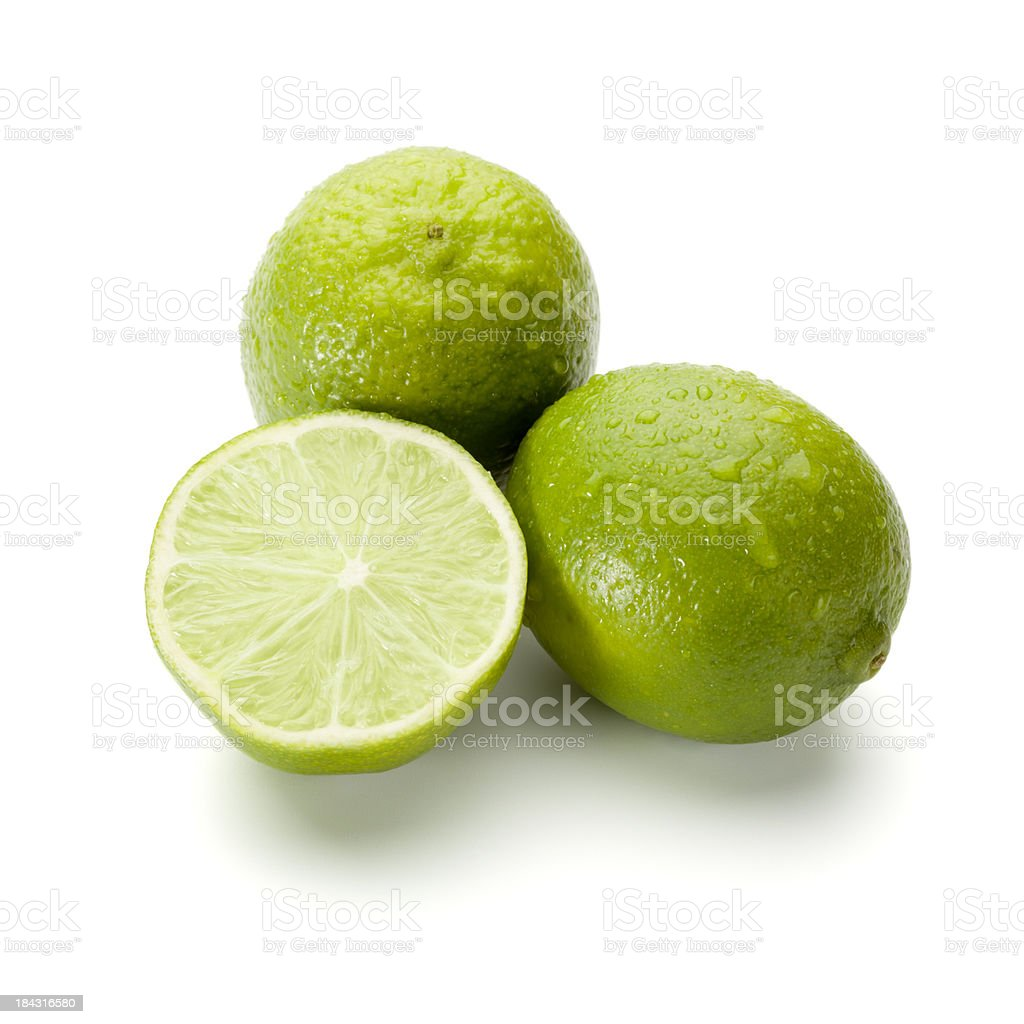 Fresh lime fruits royalty-free stock photo