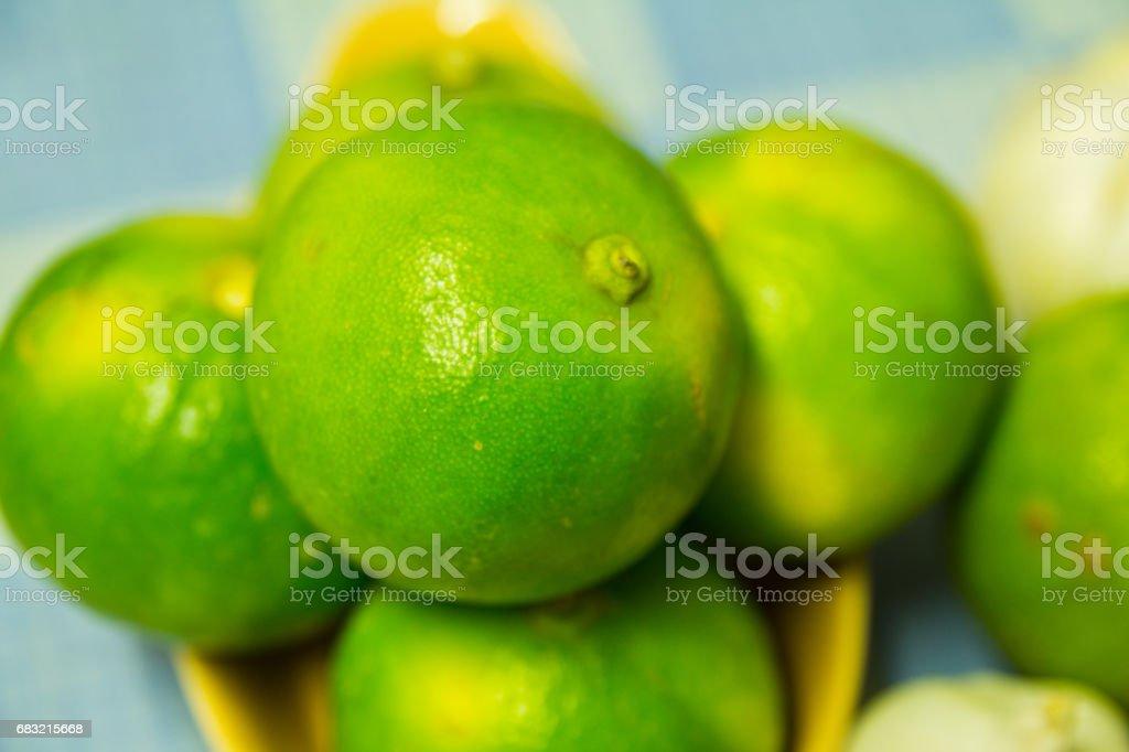 新鮮的石灰綠色與酸口味。 免版稅 stock photo