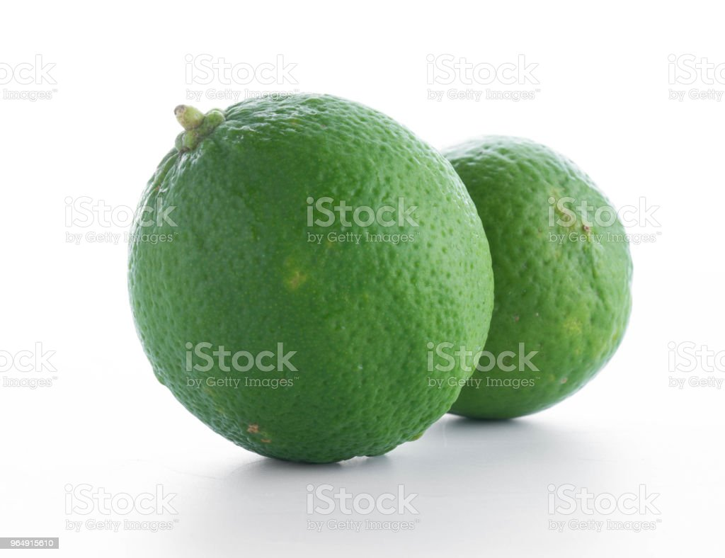 fresh lime isolated on white background royalty-free stock photo