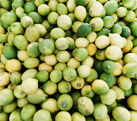 Fresh limes at a market