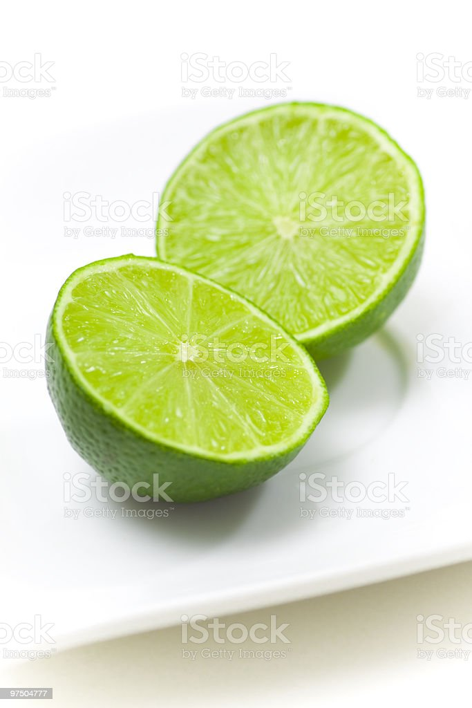 Fresh limes royalty-free stock photo