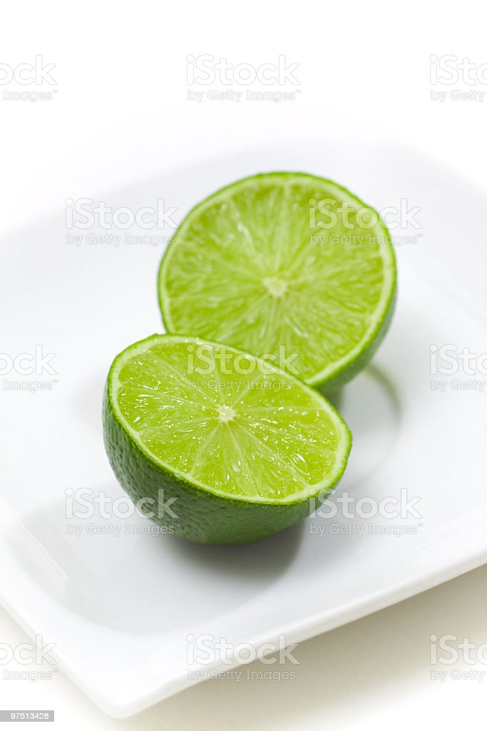 fresh limes royalty-free stock photo