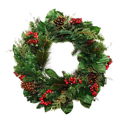 Boże Narodzenie Wieniec - zdjęcia stockowe i więcej obrazów Bez ludzi