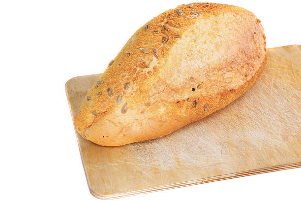 fresh loaf of bread . isolated - pone stock photos and pictures