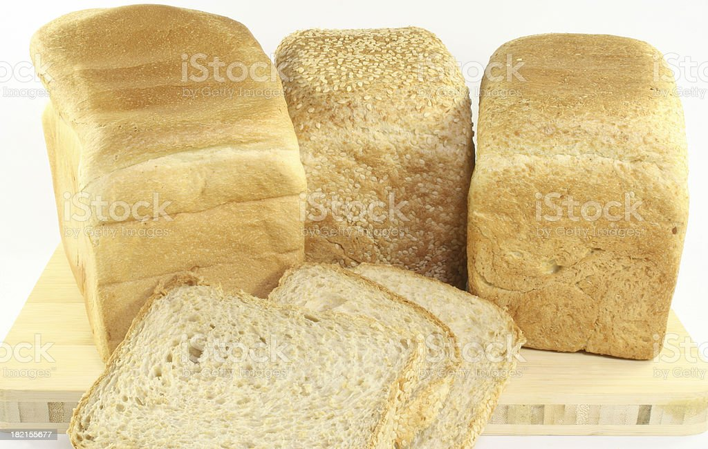 fresh loaves of bread royalty-free stock photo