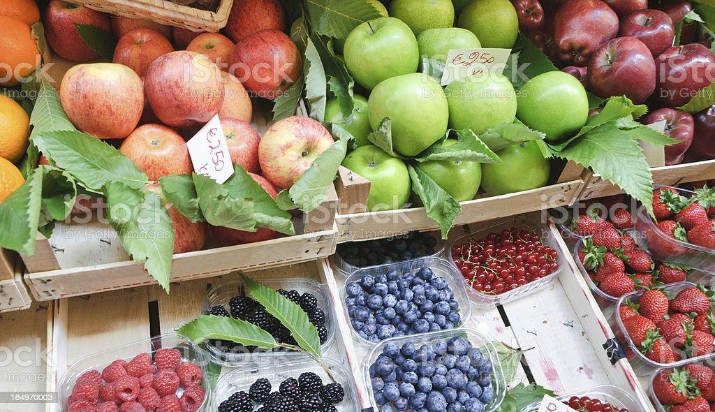 Fresh Local Fruits royalty-free stock photo