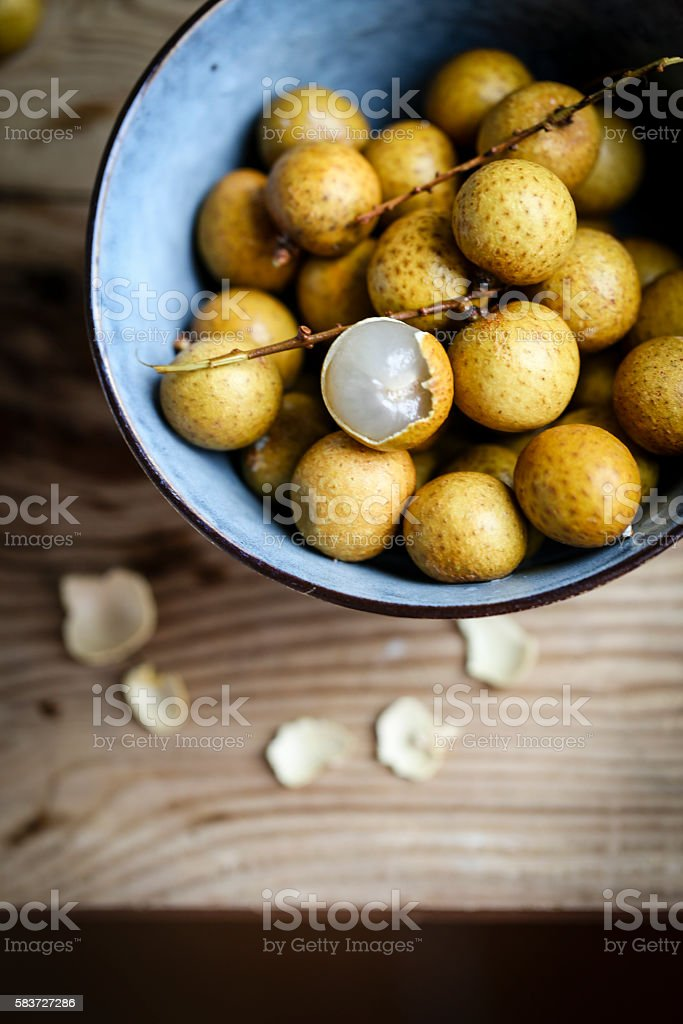 Fresh Longan fruits stock photo