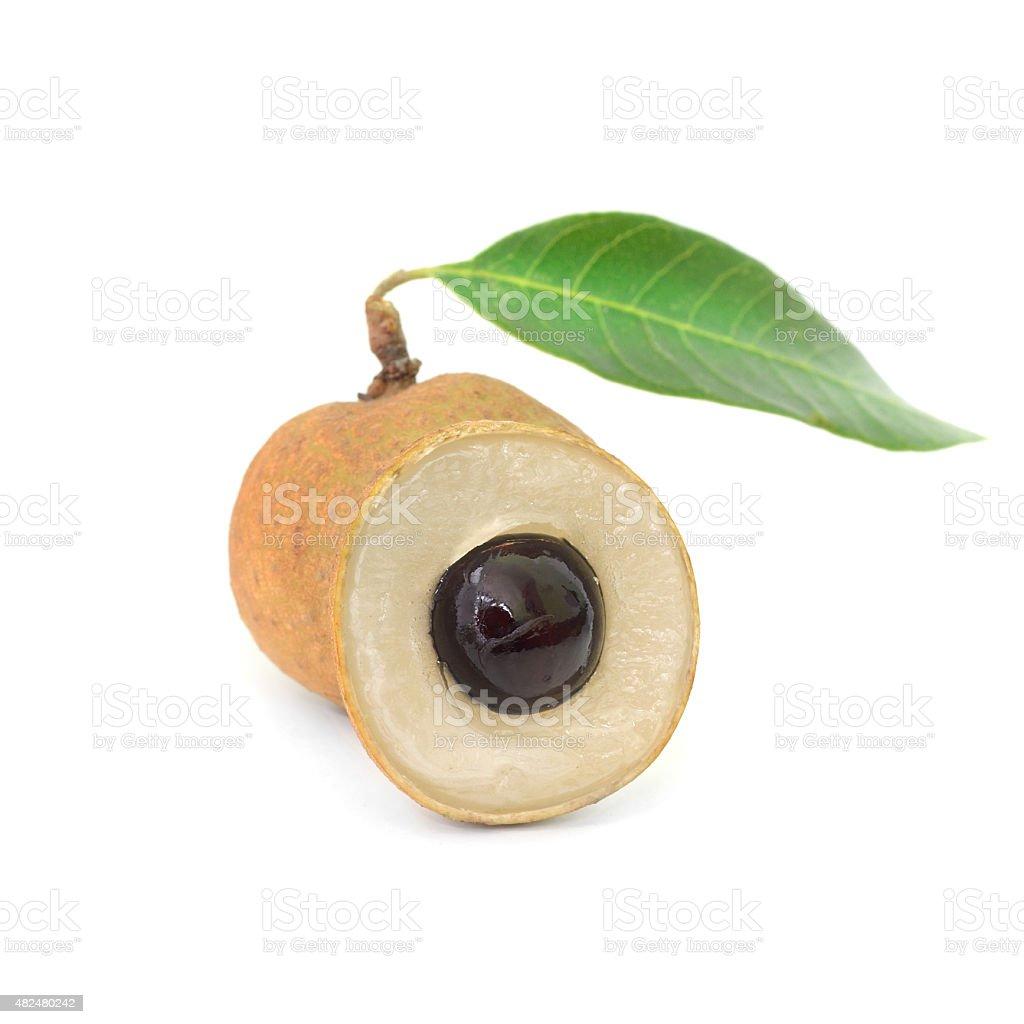 Fresh longan isolate on the background (Fruit) stock photo