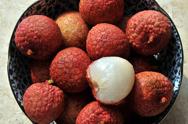 Fresh lychee stock photo