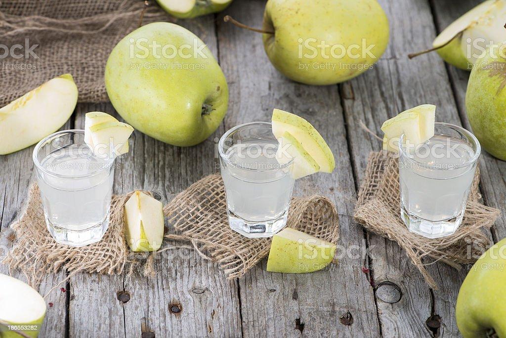 Fresh made Apple Liqueur royalty-free stock photo