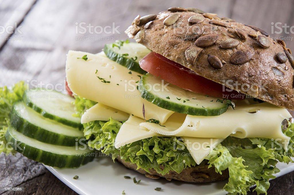 Fresh made Cheese Sandwich royalty-free stock photo