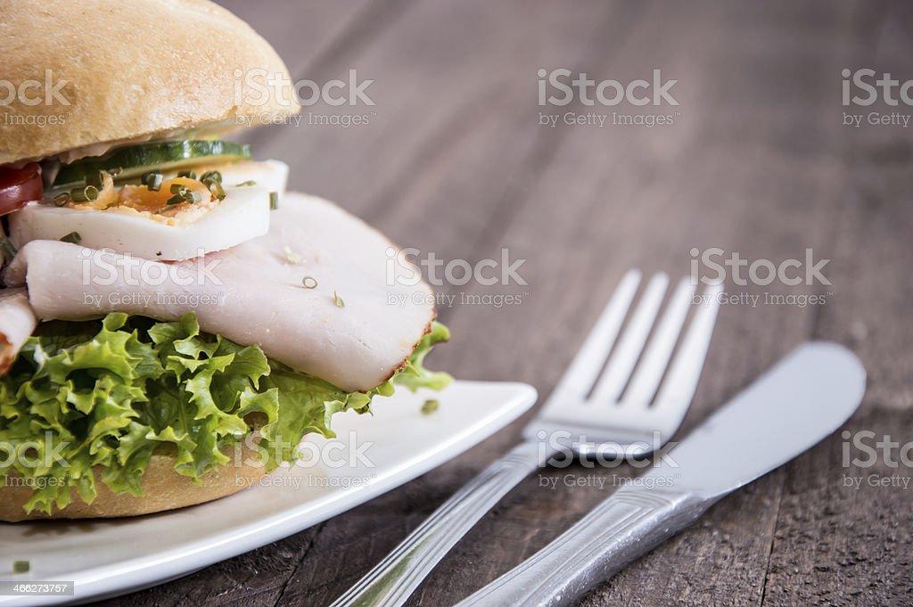Fresh made Chicken Sandwich royalty-free stock photo