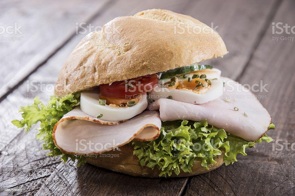 Fresh made Chicken Sandwich stock photo
