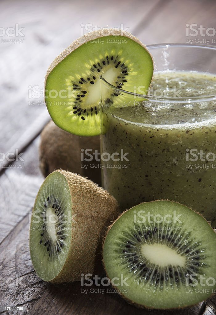 Fresh made Kiwi Shake royalty-free stock photo