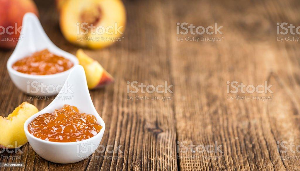 Fresh made Peach Jam stock photo