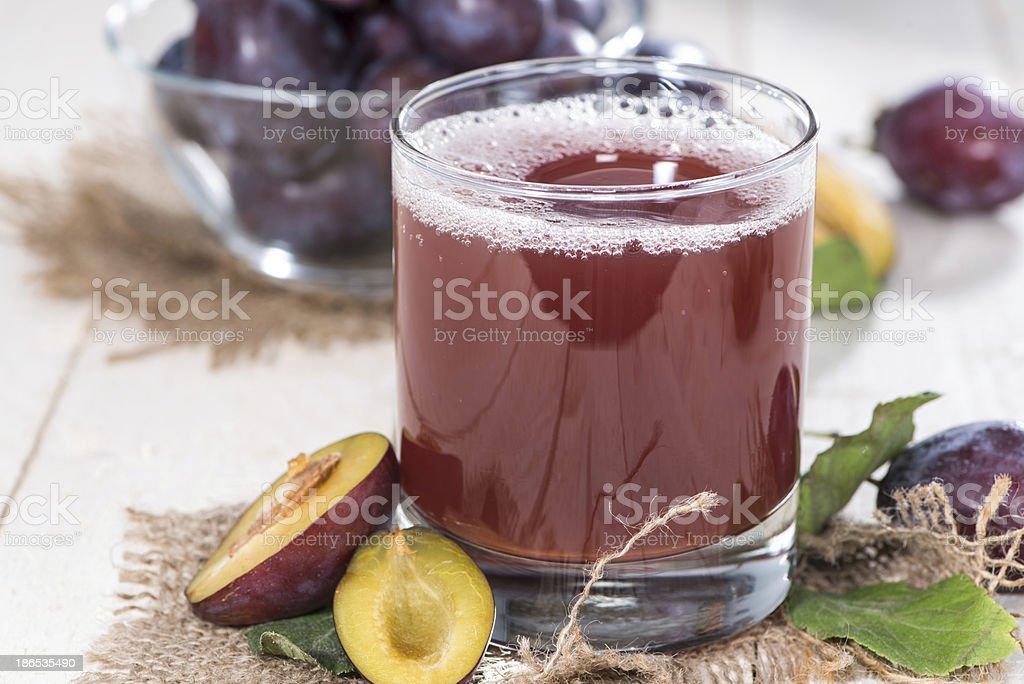 Fresh made Plum Juice stock photo