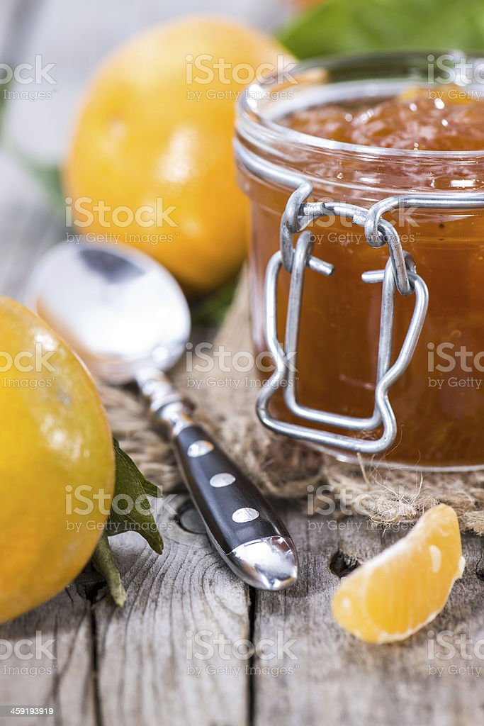 Fresh made Tangerine Jam royalty-free stock photo