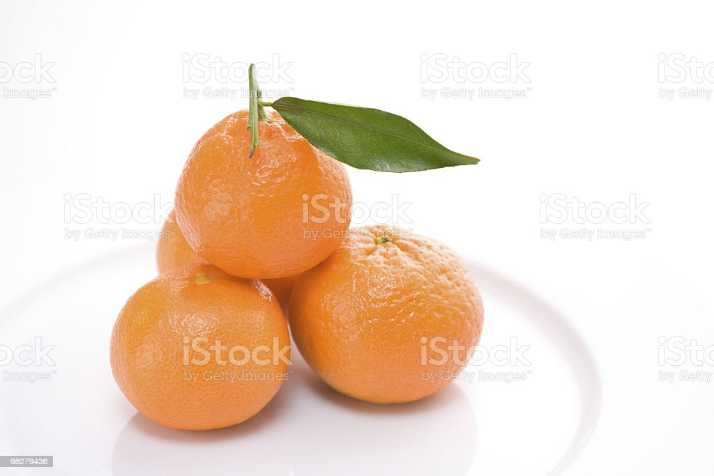 Fresco mandarins foto stock royalty-free
