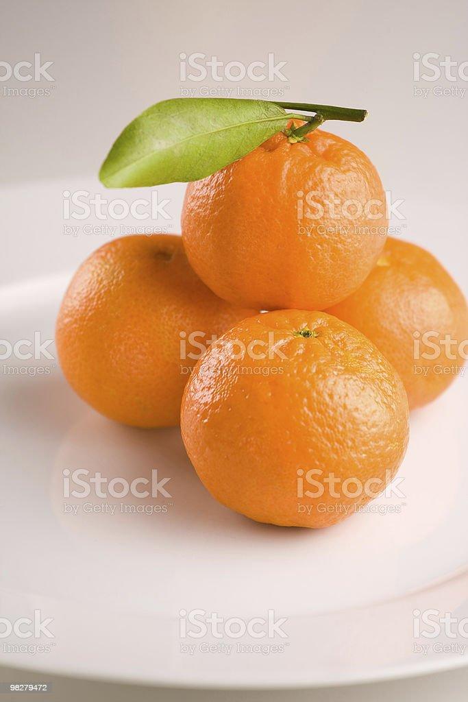 Fresh mandarins royalty-free stock photo