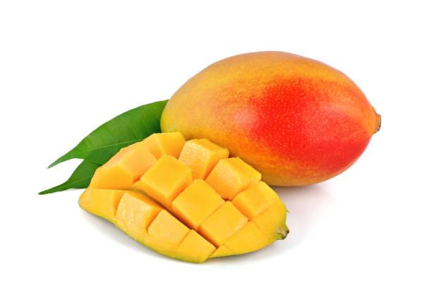 白色背景的新鮮芒果水果 - 芒果 個照片及圖片檔