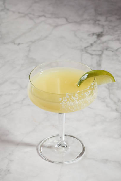 Fresh Margarita Cocktail with lime stock photo