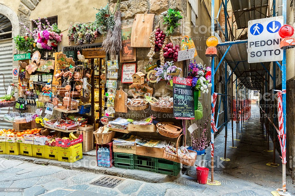 Fresh Market in Florence Italy stock photo