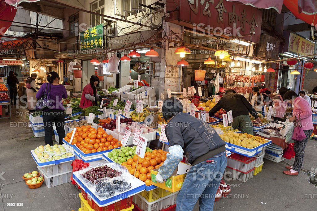 Fresh Market In Hong Kong Stock Photo - Download Image Now ...