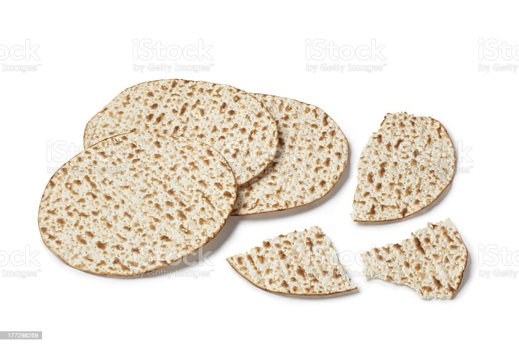 Fresh matzo royalty-free stock photo