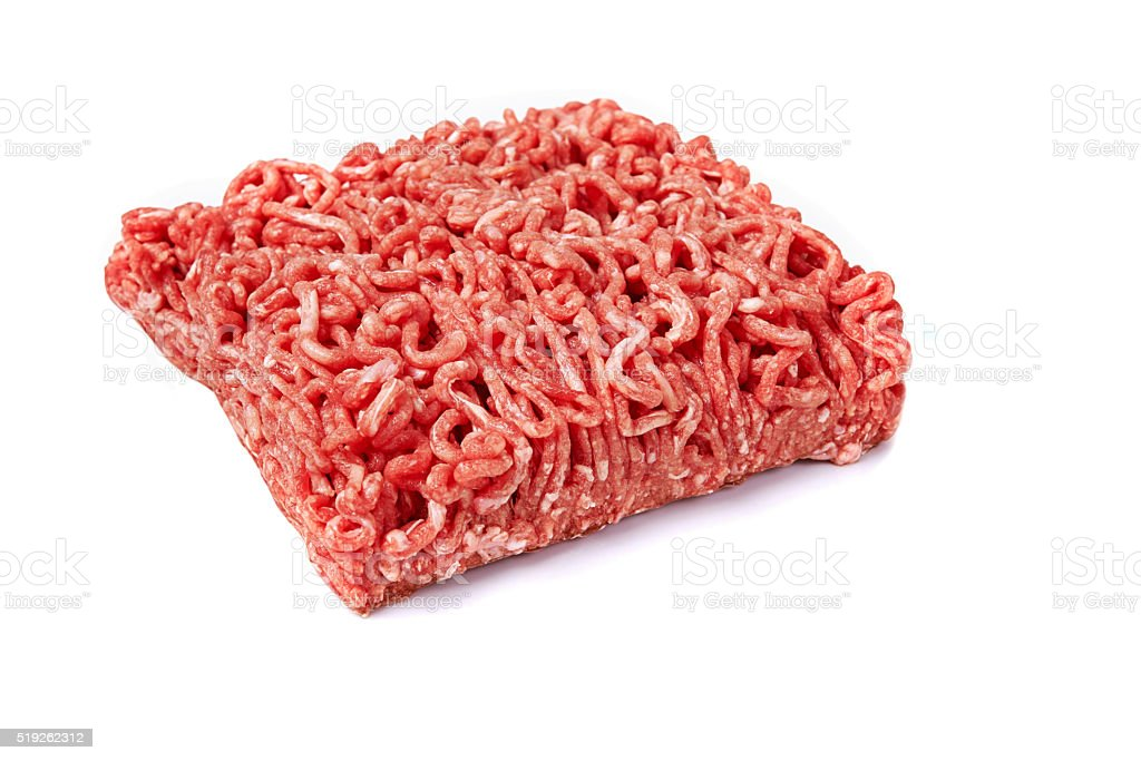 fresh meanced meat. stock photo
