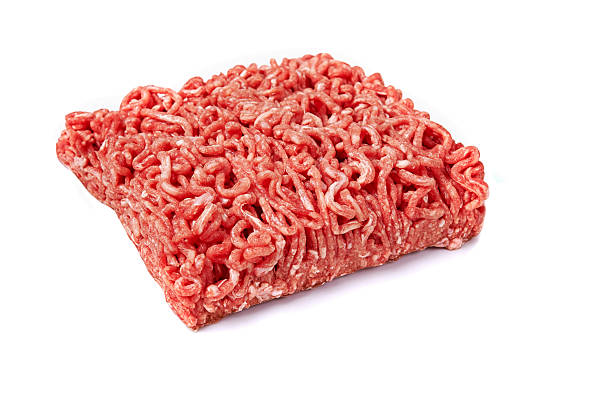 meanced carne fresca. - maiale carne foto e immagini stock