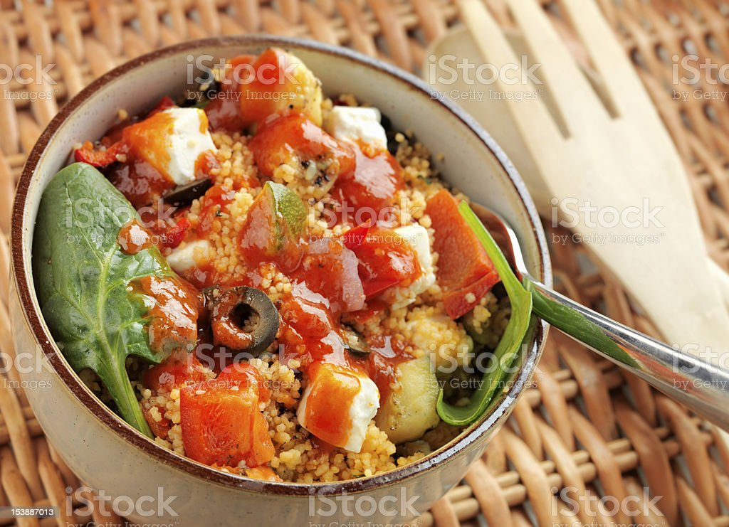 Fresh Mediterranean and Couscous salad royalty-free stock photo