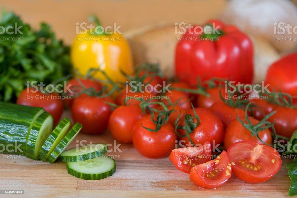 fresh mediterranean vegetables - narrow depth of field royalty-free stock photo