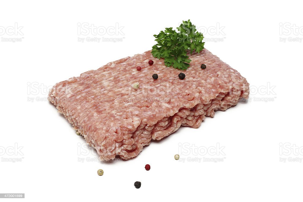 frisches mett mit petersilie stock photo