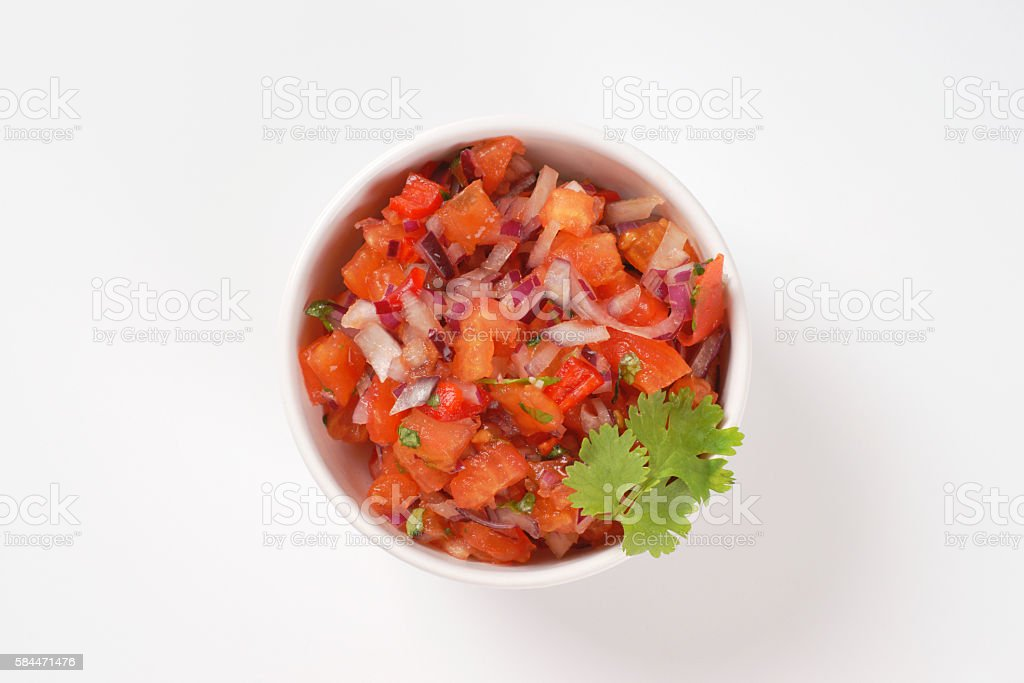 fresh salsa Mexicana stock photo