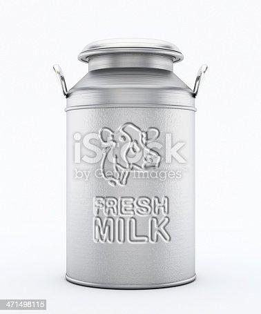 Metal milk churn with