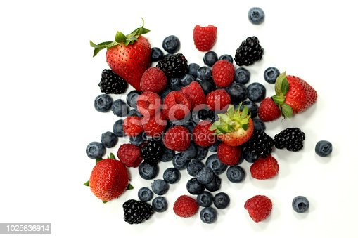 177495131 istock photo fresh mix berries on a white back ground 1025636914