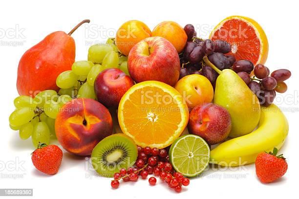 Mezcla De Frutas Frescas Foto de stock y más banco de imágenes de Fruta