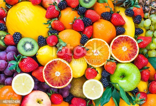 istock Fresh mixed fruits. 467652436