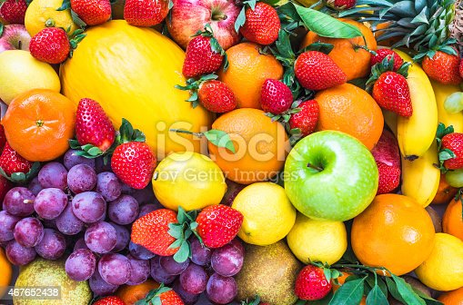istock Fresh mixed fruits. 467652438