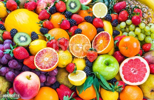istock Fresh mixed fruits. 468790774