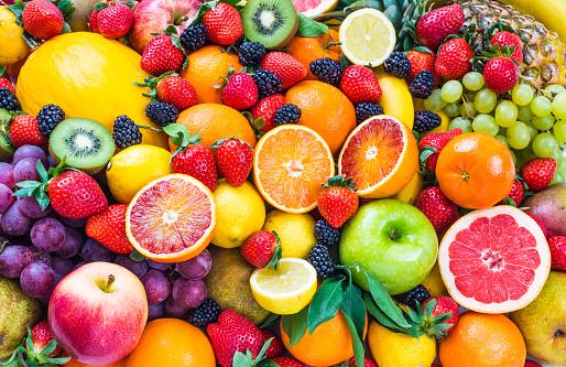 Fresh mixed fruits.