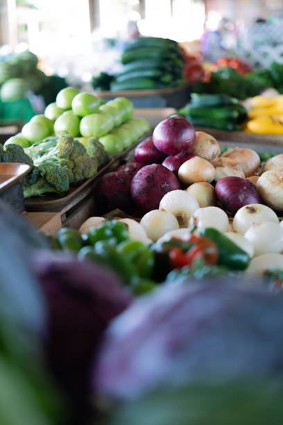 Fresh mixed vegetables stock photo