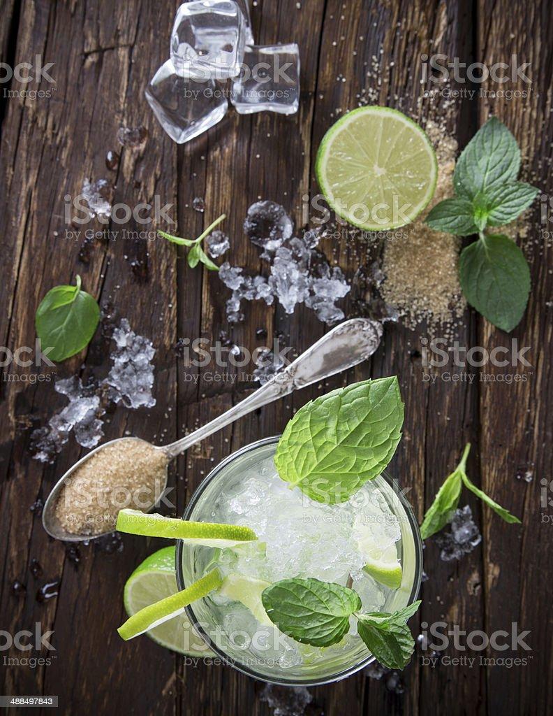 fresh mojito drink stock photo
