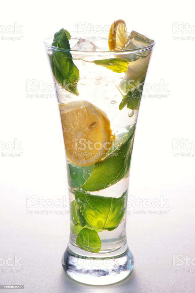 fresh mojito in a glass royalty-free stock photo