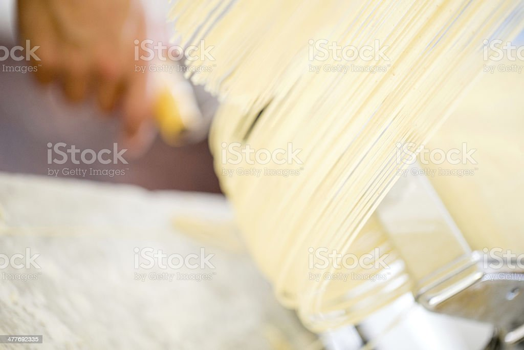 Fresh momemade pasta royalty-free stock photo