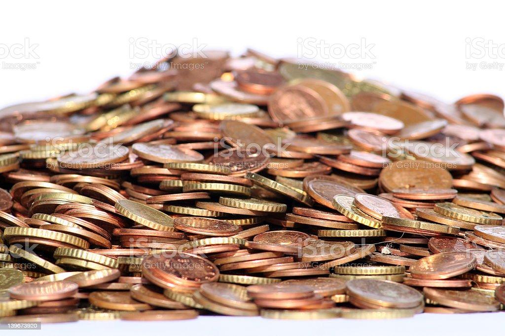 Fresh money coins royalty-free stock photo
