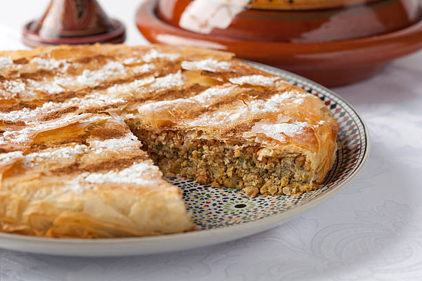 Fresh Moroccan Pastilla stock photo