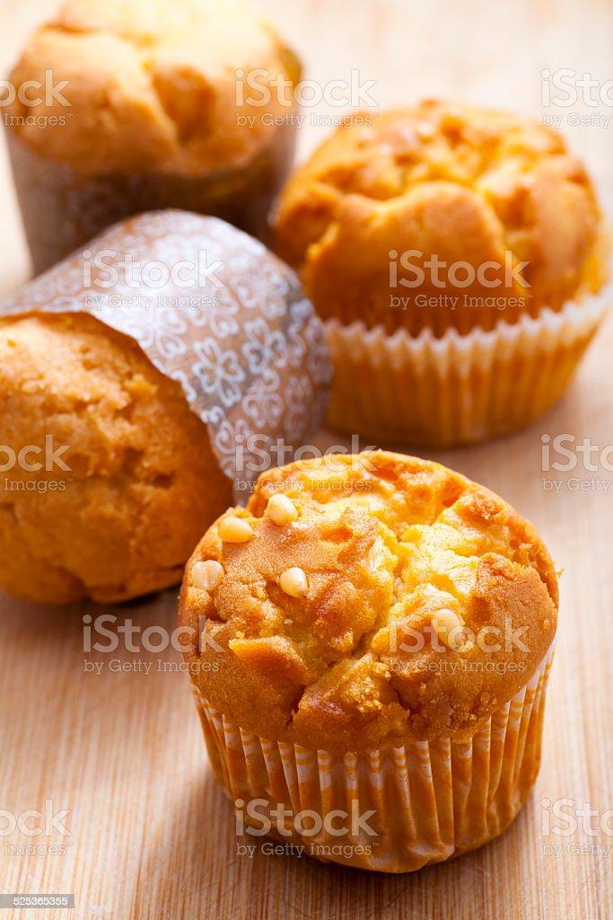 fresh muffins stock photo