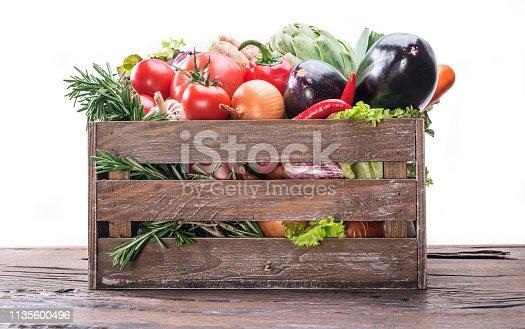istock Fresh multi-colored vegetables. 1135600496