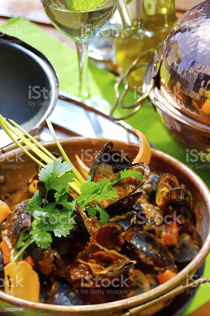 Fresh mussels royalty-free stock photo
